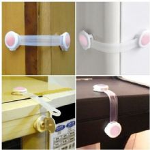 5 PCS PINK KIDS CHILD TODLER BABY SAFETY CABINET DOOR FRIDGE DRAWER CUPBOARD LOCK